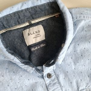Blend mens short sleeve button up shirt